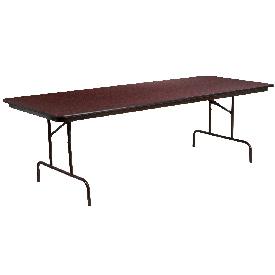 8-Foot High Pressure Mahogany Laminate Folding Banquet Table, YT-3696-HIGH-WAL-GG