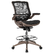 Drafting Chair - Adjustable Height Mid-Back Mesh Drafting Chair with Arms