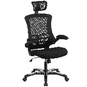 High Back Office Chair - High Back Mesh Executive Office and Desk Chair with Wheels and Adjustable Headrest