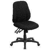 Mid-Back Black Fabric Multifunction Swivel Ergonomic Task Office Chair, BT-90297S-GG