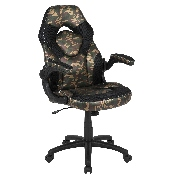 X10 Gaming Chair Racing Office Ergonomic Computer PC Adjustable Swivel Chair with Flip-up Arms, Camouflage/Black LeatherSoft