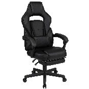 X40 Gaming Chair Racing Ergonomic Computer Chair with Fully Reclining Back/Arms, Slide-Out Footrest, Massaging Lumbar - Black