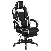 X40 Gaming Chair Racing Ergonomic Computer Chair with Fully Reclining Back/Arms, Slide-Out Footrest, Massaging Lumbar - White