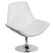 HERCULES Sabrina Series White LeatherSoft Side Reception Chair