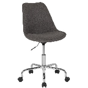 Aurora Series Mid-Back Dark Gray Fabric Task Office Chair with Pneumatic Lift and Chrome Base