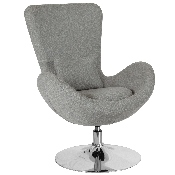 Egg Series Light Gray Fabric Side Reception Chair