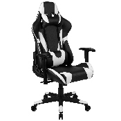 X20 Gaming Chair Racing Office Ergonomic Computer PC Adjustable Swivel Chair with Fully Reclining Back in Black LeatherSoft
