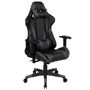 X20 Gaming Chair Racing Office Ergonomic Computer PC Adjustable Swivel Chair with Reclining Back in Gray LeatherSoft