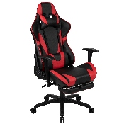 X30 Gaming Chair Racing Office Ergonomic Computer Chair with Fully Reclining Back and Slide-Out Footrest in Red LeatherSoft