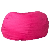 Oversized Solid Hot Pink Bean Bag Chair for Kids and Adults