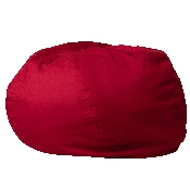 Oversized Solid Red Bean Bag Chair for Kids and Adults