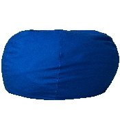 Oversized Solid Royal Blue Bean Bag Chair for Kids and Adults