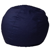 Small Solid Navy Blue Bean Bag Chair for Kids and Teens