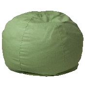 Small Solid Green Bean Bag Chair for Kids and Teens