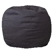 Small Solid Gray Bean Bag Chair for Kids and Teens