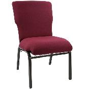 Advantage Maroon Discount Church Chair - 21 in. Wide