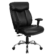 HERCULES Series Big & Tall 400 lb. Rated Black LeatherSoft Executive Ergonomic Office Chair with Full Headrest & Arms