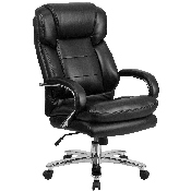 Big & Tall Office Chair - Black LeatherSoft Swivel Executive Desk Chair with Wheels