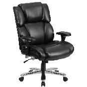 HERCULES Series 24/7 Intensive Use Big & Tall 400 lb. Rated Black LeatherSoft Executive Lumbar Ergonomic Office Chair