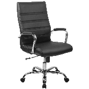 High Back Office Chair - High Back LeatherSoft Executive Office Swivel Chair with Wheels