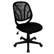 Y-GO Office Chair Mid-Back Black Mesh Swivel Task Office Chair