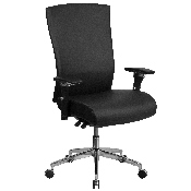 HERCULES Series 24/7 Intensive Use 300 lb. Rated Black LeatherSoft Multifunction Ergonomic Office Chair with Seat Slider, GO-WY-85H-1-GG