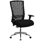 HERCULES Series 24/7 Intensive Use 300 lb. Rated Black Mesh Multifunction Ergonomic Office Chair with Seat Slider, GO-WY-85H-GG