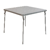 Gray Folding Card Table - Lightweight Portable Folding Table with Collapsible Legs
