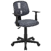 Flash Fundamentals Mid-Back Gray Mesh Swivel Task Office Chair with Pivot Back and Arms, BIFMA Certified