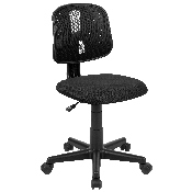 Flash Fundamentals Mid-Back Black Mesh Swivel Task Office Chair with Pivot Back, BIFMA Certified