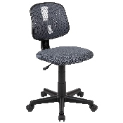 Flash Fundamentals Mid-Back Gray Mesh Swivel Task Office Chair with Pivot Back, BIFMA Certified