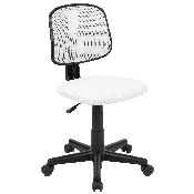 Flash Fundamentals Mid-Back White Mesh Swivel Task Office Chair with Pivot Back, BIFMA Certified