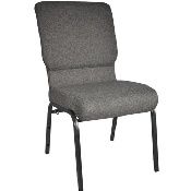 Advantage Charcoal Gray Church Chair 18.5 in. Wide