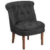 HERCULES Kenley Series Black Fabric Tufted Chair