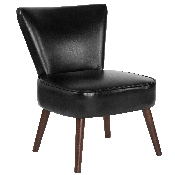 HERCULES Holloway Series Black LeatherSoft Retro Chair