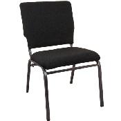 Advantage Black Multipurpose Church Chairs - 18.5 in. Wide