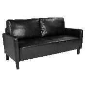 Washington Park Upholstered Sofa in Black LeatherSoft