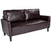Washington Park Upholstered Sofa in Brown LeatherSoft