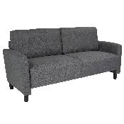 Candler Park Upholstered Sofa in Dark Gray Fabric