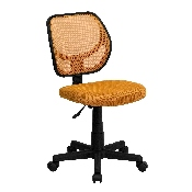 Low Back Orange Mesh Swivel Task Office Chair