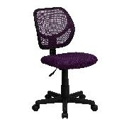 Low Back Purple Mesh Swivel Task Office Chair