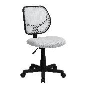 Low Back White Mesh Swivel Task Office Chair