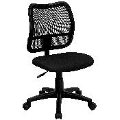 Mid-Back Black Mesh Swivel Task Office Chair
