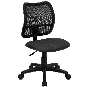 Mid-Back Gray Mesh Swivel Task Office Chair