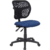 Mid-Back Navy Blue Mesh Swivel Task Office Chair with Back Height Adjustment
