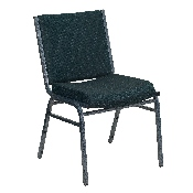 HERCULES Series Heavy Duty Green Patterned Fabric Stack Chair