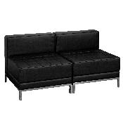 HERCULES Imagination Series Black LeatherSoft Lounge Set, 2 Pieces