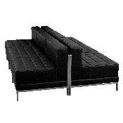 HERCULES Imagination Series Black LeatherSoft Lounge Set, 6 Pieces