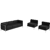 HERCULES Imagination Series Black LeatherSoft Sofa & Chair Set, ZB-IMAG-SET13-GG