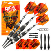 Viper The Freak Soft Tip Darts 3 Knurled Rings Barrel 18 Grams